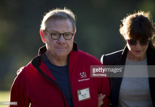 Michael Ovitz former president of Walt Disney Co walks to a morning session at the Allen Co Media and Technology Conference in Sun Valley Idaho US on...
