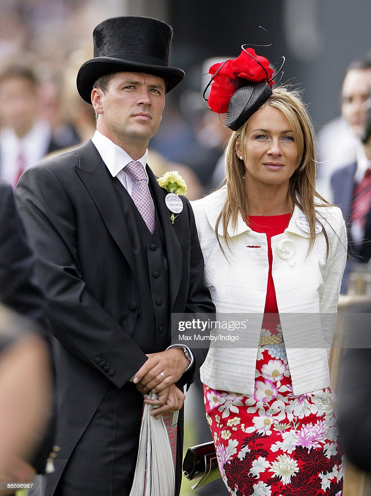 Michael Owen (L) and wife Louise Bonsall attend the fifth and final day of Royal Week at Ascot Racecourse on June 20, 2009 in Ascot, England.