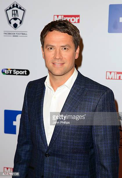 Michael Owen arrives at the inaugural Facebook Football Awards on May 26 2015 in London England