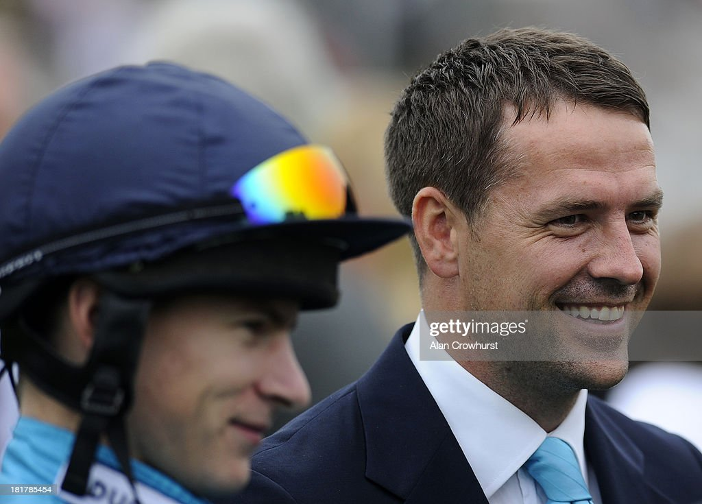 Michael Owen attends Goodwood racecourse on September 25, 2013 in Chichester, England.
