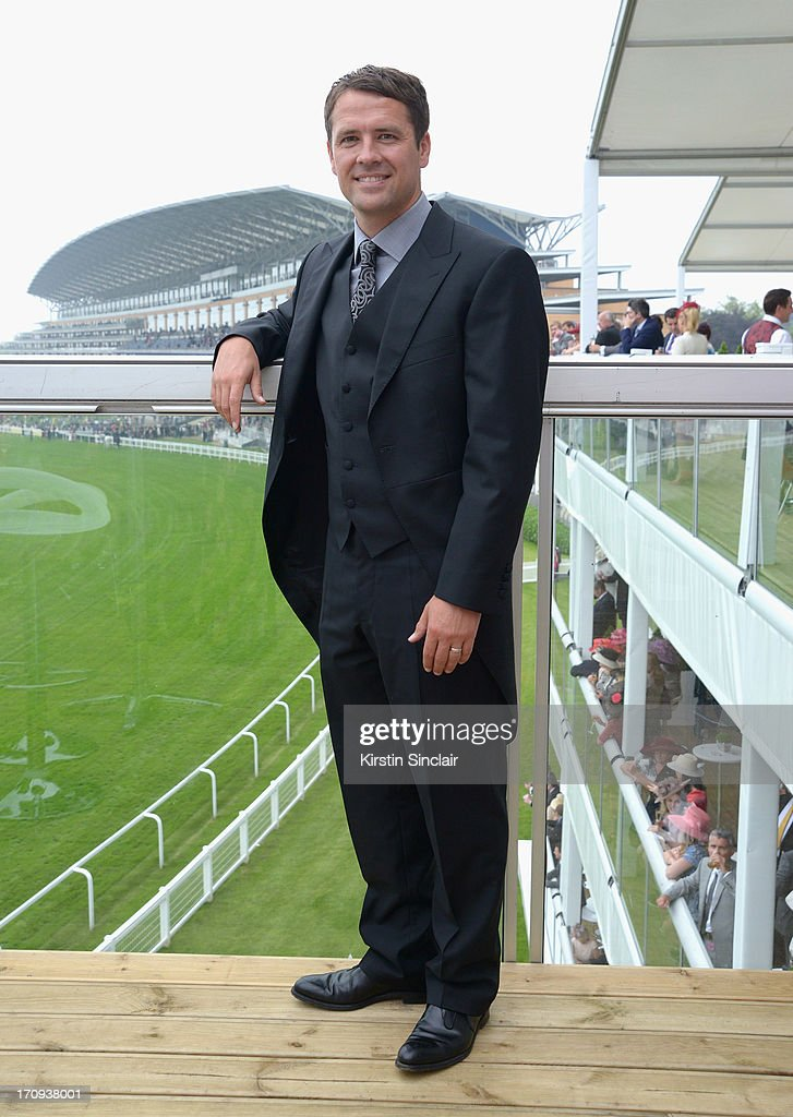 Michael Owen attends Ladies' Day on day three of Royal Ascot at Ascot Racecourse on June 20, 2013 in Ascot, England.