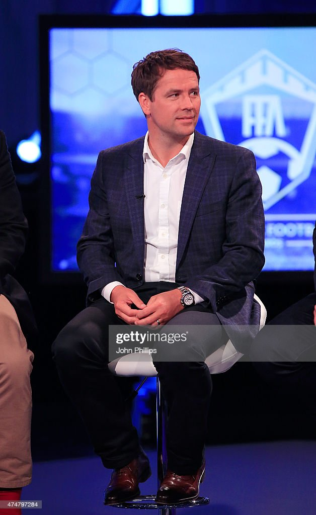 Michael Owen during live broadcast of the inaugural Facebook Football Awards on May 26 2015 in London England