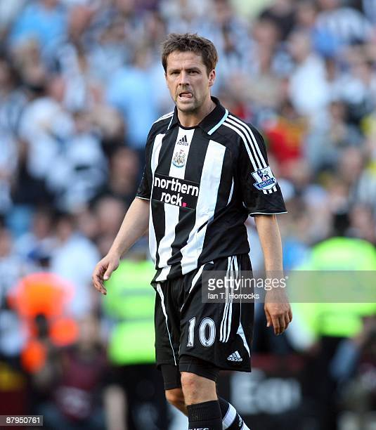 Michael Owen looks on after the final whistle during the Barclays Premier League game between Aston Villa and Newcastle United at Villa Park on May...