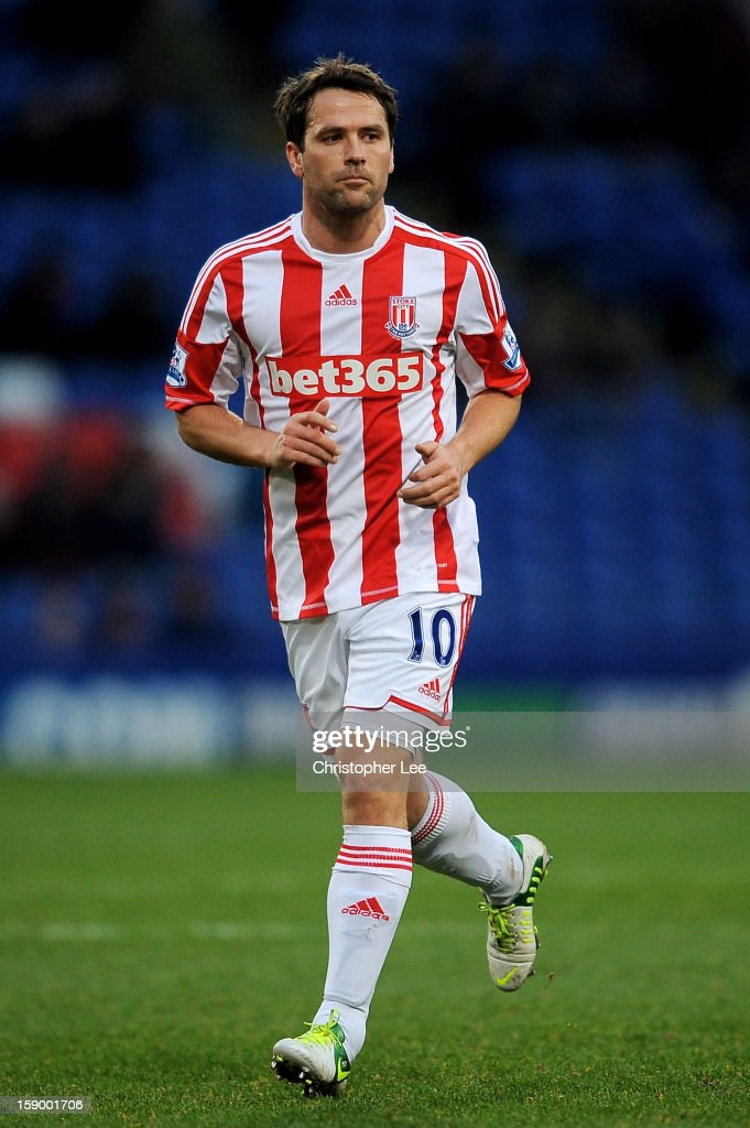 Michael Owen of Stoke in action during the FA Cup with Budweiser Third Round match between Crystal Palace and Stoke City at Selhurst Park on January 5, 2013 in London, England.
