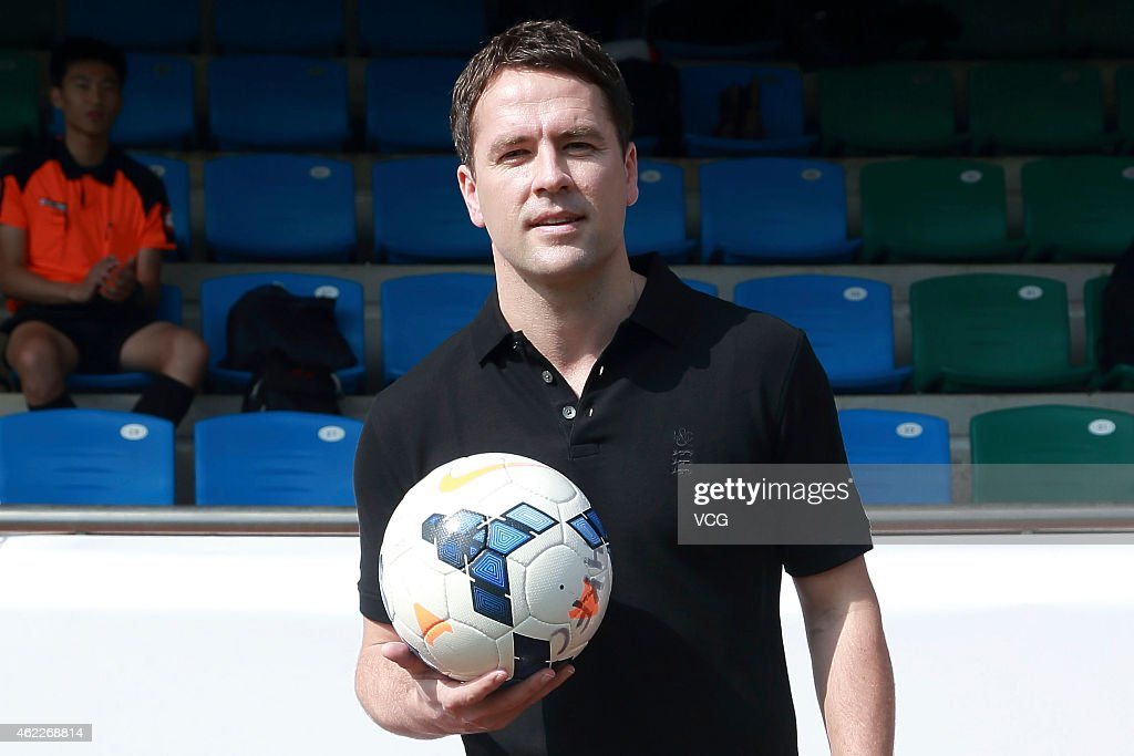 Michael Owen poses for a photograph during a friendly match held by Kent Curwen on January 26 2015 in Hong Kong Hong Kong