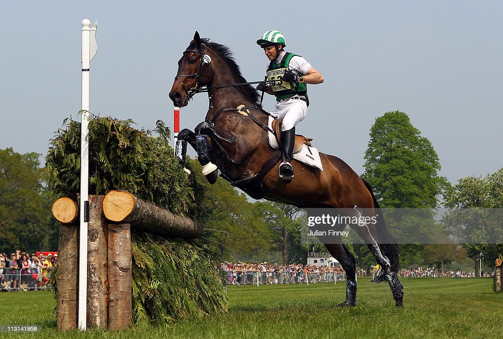 Michael Owen riding The Highland Prince as they compete in the cross country stage during day three of the Badminton Horse Trials on April 24, 2011 in Badminton, Gloucestershire.