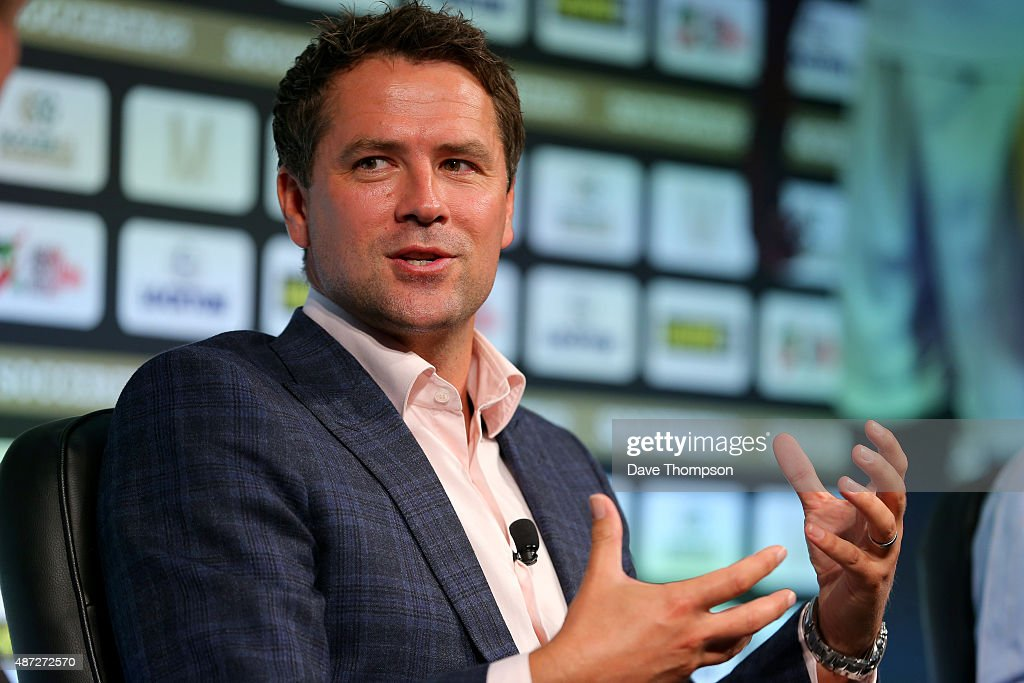 Michael Owen takes part in a discussion about 'Life after football' during day four of the Soccerex Global Convention at Manchester Central on...