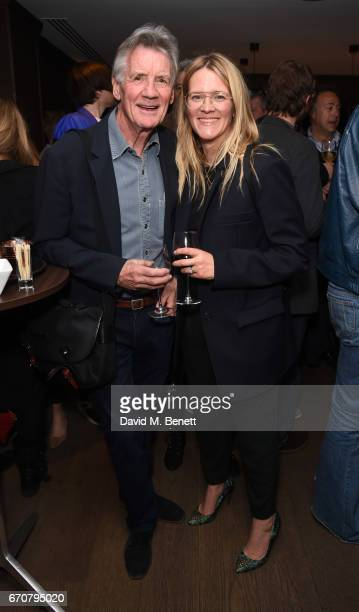 Michael Palin and Edith Bowman attend a gala screening of 'Mindhorn' at the May Fair Hotel on April 20 2017 in London England
