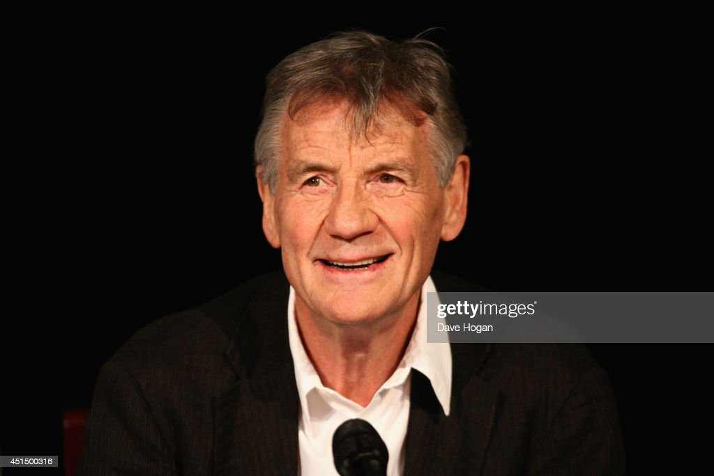 <a gi-track='captionPersonalityLinkClicked' href=/galleries/search?phrase=Michael+Palin&family=editorial&specificpeople=208240 ng-click='$event.stopPropagation()'>Michael Palin</a> attends a press conference ahead of their upcoming tour at the O2 Arena 'Monty Python Live' at the London Palladium on June 30, 2014 in London, England.