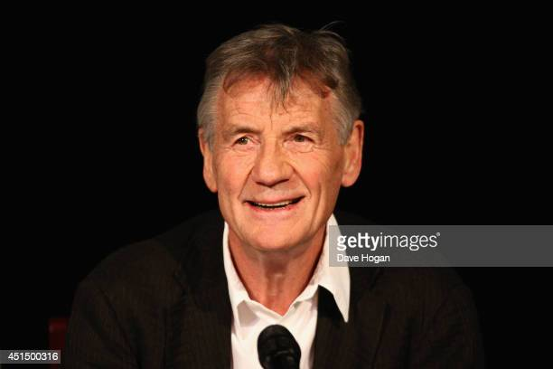 Michael Palin attends a press conference ahead of their upcoming tour at the O2 Arena 'Monty Python Live' at the London Palladium on June 30 2014 in...