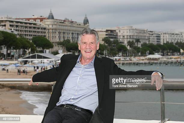 Michael Palin attends 'Clangers' photocall on La Croisette on October 6 2015 in Cannes France