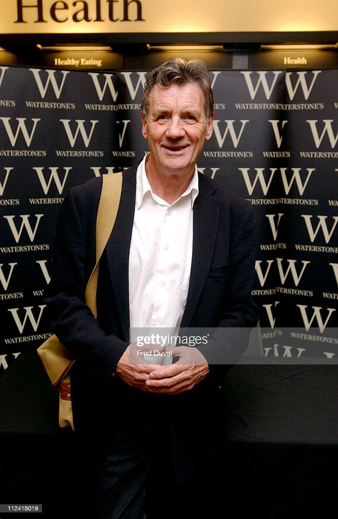 <a gi-track='captionPersonalityLinkClicked' href=/galleries/search?phrase=Michael+Palin&family=editorial&specificpeople=208240 ng-click='$event.stopPropagation()'>Michael Palin</a> during <a gi-track='captionPersonalityLinkClicked' href=/galleries/search?phrase=Michael+Palin&family=editorial&specificpeople=208240 ng-click='$event.stopPropagation()'>Michael Palin</a> In-Store Book Signing at Waterstone's in London, Great Britain.