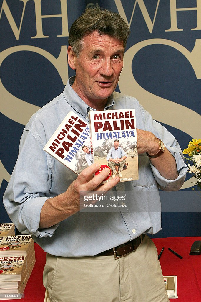 <a gi-track='captionPersonalityLinkClicked' href=/galleries/search?phrase=Michael+Palin&family=editorial&specificpeople=208240 ng-click='$event.stopPropagation()'>Michael Palin</a> during <a gi-track='captionPersonalityLinkClicked' href=/galleries/search?phrase=Michael+Palin&family=editorial&specificpeople=208240 ng-click='$event.stopPropagation()'>Michael Palin</a> Signs His Book 'Himalaya' at WHSMith in Victoria Station - June 20, 2005 at WHSMith - Victoria Station in London, Great Britain.