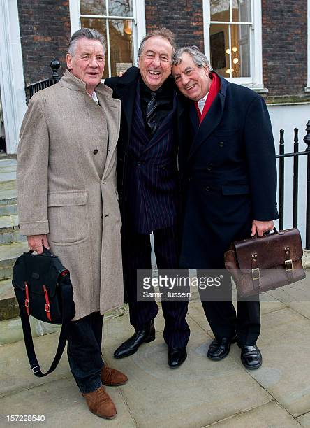 Michael Palin Eric Idle and Terry Jones of Monty Python pose together ahead of a legal case at the High Court in a dispute over the hit musical...