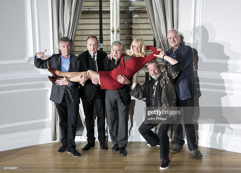 <a gi-track='captionPersonalityLinkClicked' href=/galleries/search?phrase=Michael+Palin&family=editorial&specificpeople=208240 ng-click='$event.stopPropagation()'>Michael Palin</a>, <a gi-track='captionPersonalityLinkClicked' href=/galleries/search?phrase=Eric+Idle&family=editorial&specificpeople=213355 ng-click='$event.stopPropagation()'>Eric Idle</a>, Terry Jones, <a gi-track='captionPersonalityLinkClicked' href=/galleries/search?phrase=Carol+Cleveland&family=editorial&specificpeople=2003514 ng-click='$event.stopPropagation()'>Carol Cleveland</a>, <a gi-track='captionPersonalityLinkClicked' href=/galleries/search?phrase=Terry+Gilliam&family=editorial&specificpeople=221636 ng-click='$event.stopPropagation()'>Terry Gilliam</a> and <a gi-track='captionPersonalityLinkClicked' href=/galleries/search?phrase=John+Cleese&family=editorial&specificpeople=211415 ng-click='$event.stopPropagation()'>John Cleese</a> pose for a photograph ahead of a press conference in central London on November 21, 2013 in London, England.