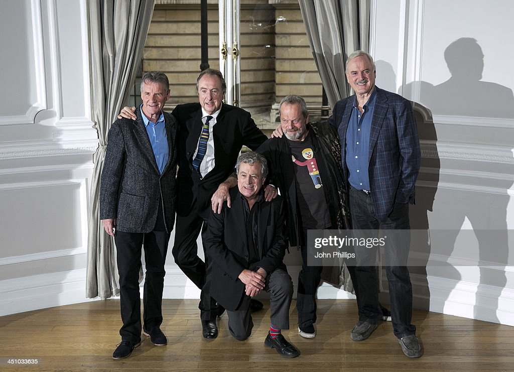 <a gi-track='captionPersonalityLinkClicked' href=/galleries/search?phrase=Michael+Palin&family=editorial&specificpeople=208240 ng-click='$event.stopPropagation()'>Michael Palin</a>, <a gi-track='captionPersonalityLinkClicked' href=/galleries/search?phrase=Eric+Idle&family=editorial&specificpeople=213355 ng-click='$event.stopPropagation()'>Eric Idle</a>, Terry Jones, <a gi-track='captionPersonalityLinkClicked' href=/galleries/search?phrase=Terry+Gilliam&family=editorial&specificpeople=221636 ng-click='$event.stopPropagation()'>Terry Gilliam</a> and <a gi-track='captionPersonalityLinkClicked' href=/galleries/search?phrase=John+Cleese&family=editorial&specificpeople=211415 ng-click='$event.stopPropagation()'>John Cleese</a> pose for a photograph ahead of a press conference in central London on November 21, 2013 in London, England.