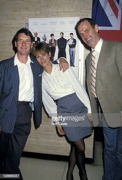 Michael Palin Jamie Lee Curtis and John Cleese during 'A Fish Called Wanda' New York Premiere July 7 1988 at Lincoln Center in New York City New York...