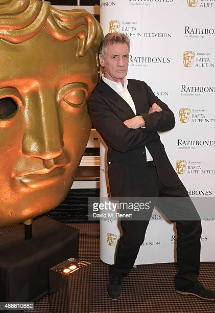Michael Palin poses at his 'BAFTA A Life In Television' QA at BAFTA on March 17 2015 in London England