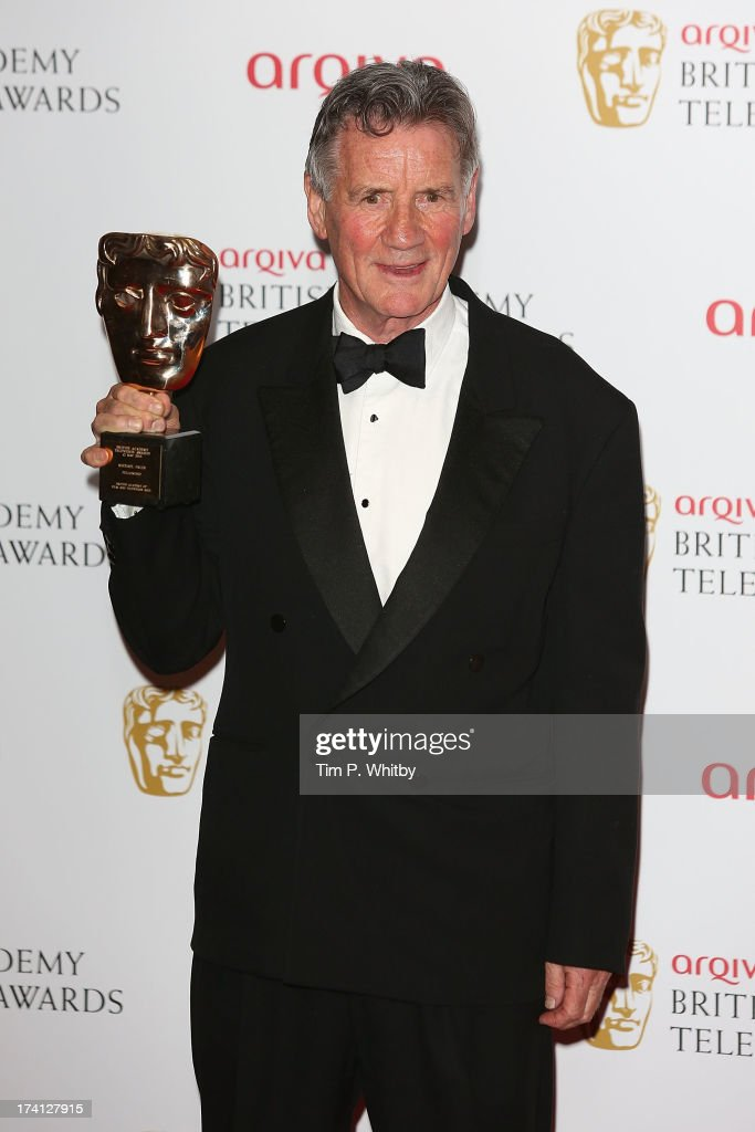 <a gi-track='captionPersonalityLinkClicked' href=/galleries/search?phrase=Michael+Palin&family=editorial&specificpeople=208240 ng-click='$event.stopPropagation()'>Michael Palin</a> poses in the press room at the Arqiva British Academy Television Awards 2013 at the Royal Festival Hall on May 12, 2013 in London, England.