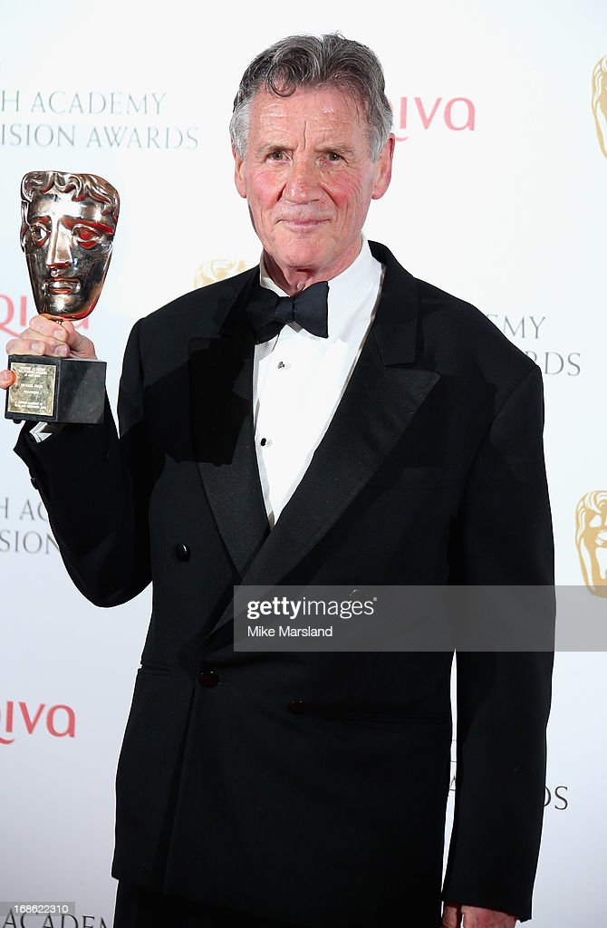 <a gi-track='captionPersonalityLinkClicked' href=/galleries/search?phrase=Michael+Palin&family=editorial&specificpeople=208240 ng-click='$event.stopPropagation()'>Michael Palin</a> with his Fellowship Award during the Arqiva British Academy Television Awards 2013 at the Royal Festival Hall on May 12, 2013 in London, England.