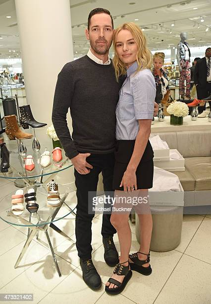 Michael Parish and actress/designer Kate Bosworth attends the Kate Bosworth | Matisse Footwear Launch at Nordstrom at The Grove on May 13 2015 in Los...