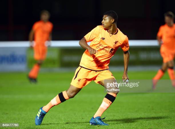 Michael Parker of Liverpool during Premier League 2 Division 1 match between West Ham United Under 23s and Liverpool Under 23s at Dagenham and...