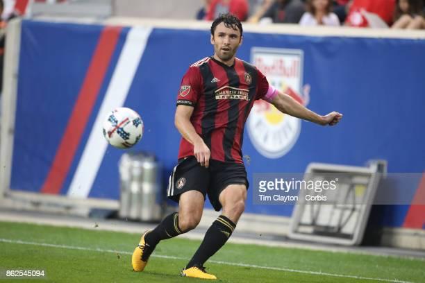 Michael Parkhurst of Atlanta United in action during the New York Red Bulls Vs Atlanta United FC MLS regular season match at Red Bull Arena Harrison...