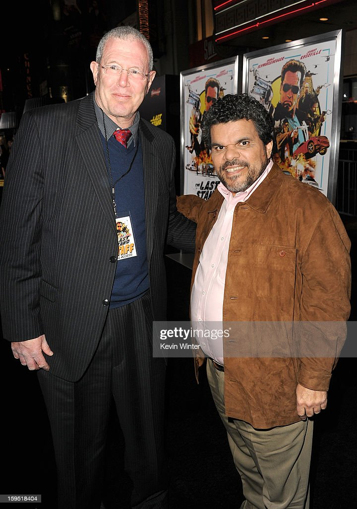 Michael Paseornek, Lionsgate Motion Picture Group President of Motion Picture Production and Development (L) and actor Luis Guzman arrive at the premiere of Lionsgate Films' 'The Last Stand' at Grauman's Chinese Theatre on January 14, 2013 in Hollywood, California.
