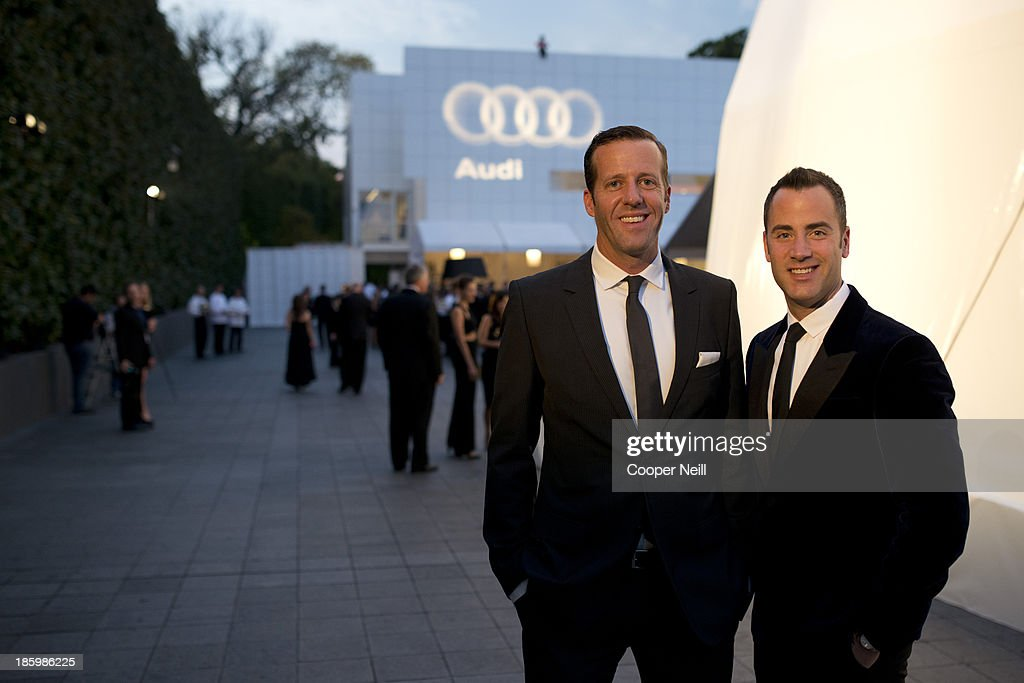Michael Patrick and Andrew Lipman arrive for the 2013 TWO x TWO for AIDS and Art Gala at the Rachofsky House on October 26, 2013 in Dallas, Texas.