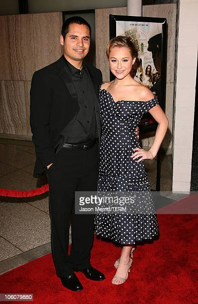 Michael Pena and Alexa Vega during HBO Films 'Walkout' Los Angeles Premiere Arrivals at Cinerama Dome in Hollywood California United States