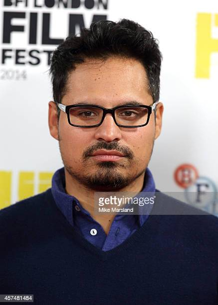 Michael Pena attends a photocall for 'Fury' during the 58th BFI London Film Festival at Corinthia Hotel London on October 19 2014 in London England