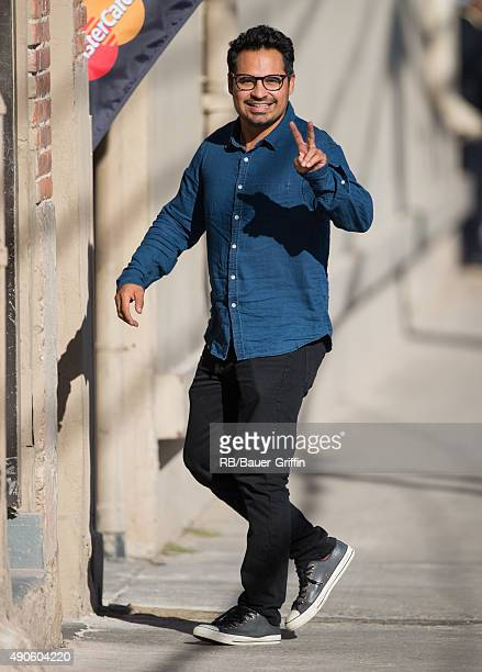 Michael Pena is seen at 'Jimmy Kimmel Live' on September 29 2015 in Los Angeles California