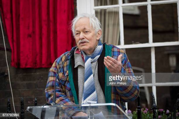 Michael Pennington during the unveiling of a new plaque commemorating her friend and fellow actor Sir John Gielgud on Cowley Street in Westminster on...