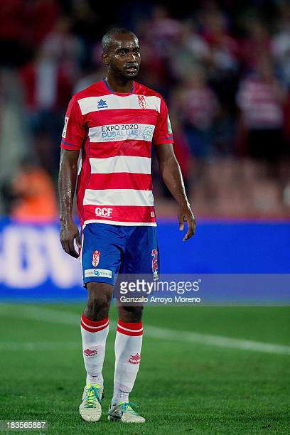 Michael Pereira of Granada CF looks on after the La Liga match between Granada CF and Athletic Club at Estadio Nuevo Los Carmenes on September 30...