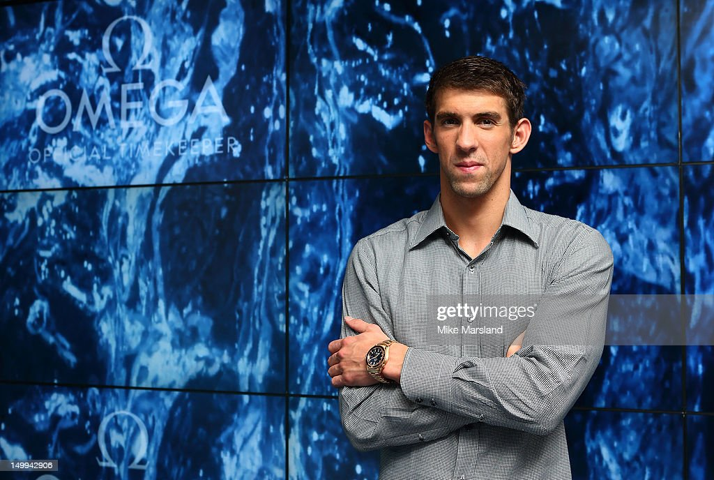 <a gi-track='captionPersonalityLinkClicked' href=/galleries/search?phrase=Michael+Phelps&family=editorial&specificpeople=162698 ng-click='$event.stopPropagation()'>Michael Phelps</a> attends 'Spotlight On Swimming' presented by Omega House on August 7, 2012 in London, England.