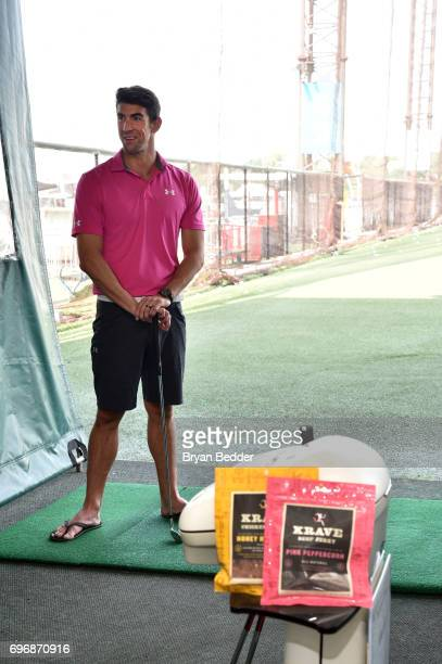 Michael Phelps attends the KRAVE Jerky flavor launch event at Chelsea Piers on June 15 2017 in New York City