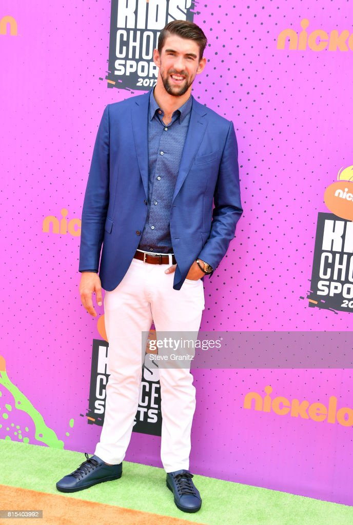 Michael Phelps attends the Nickelodeon Kids' Choice Sports Awards 2017 at Pauley Pavilion on July 13, 2017 in Los Angeles, California.