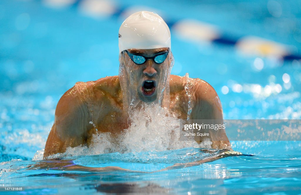 <a gi-track='captionPersonalityLinkClicked' href=/galleries/search?phrase=Michael+Phelps&family=editorial&specificpeople=162698 ng-click='$event.stopPropagation()'>Michael Phelps</a> competes in the championship final heat of the Men's 400 m Individual Medely during the 2012 U.S. Olympic Swimming Team Trials at CenturyLink Center on June 25, 2012 in Omaha, Nebraska.