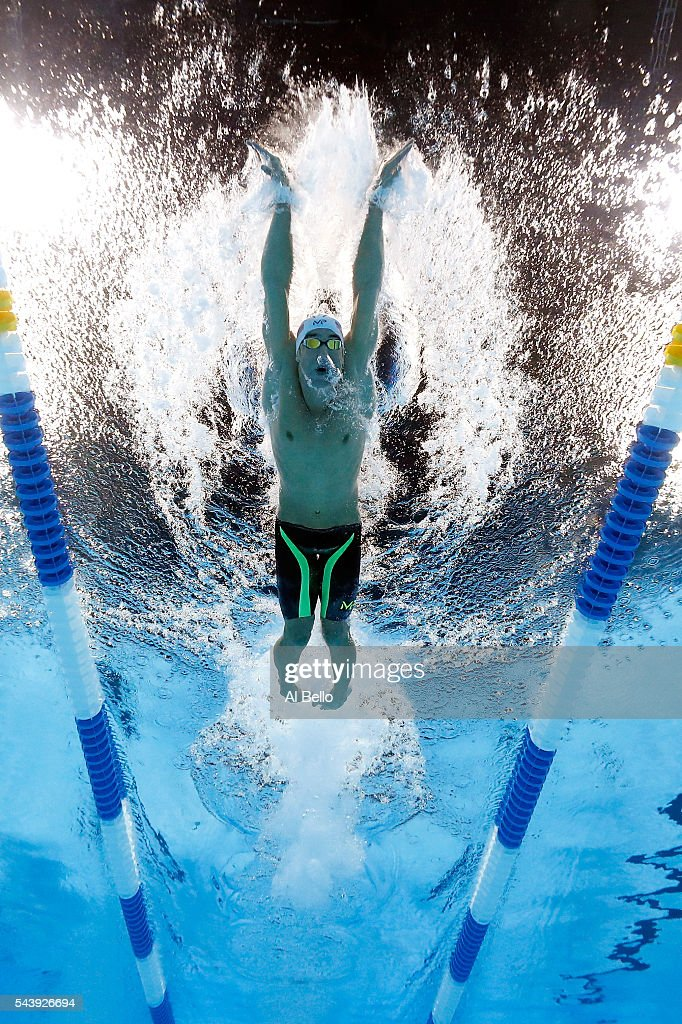 <a gi-track='captionPersonalityLinkClicked' href=/galleries/search?phrase=Michael+Phelps&family=editorial&specificpeople=162698 ng-click='$event.stopPropagation()'>Michael Phelps</a> of the United States competes in a heat for the Men's 200 Meter Individual Medley during Day Five of the 2016 U.S. Olympic Team Swimming Trials at CenturyLink Center on June 30, 2016 in Omaha, Nebraska.