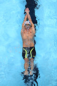 Michael Phelps of the United States competes in a heat for the Men's 200 Meter Individual Medley during Day Five of the 2016 US Olympic Team Swimming...