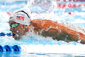 Michael Phelps of the United States competes in a heat for the Men's 100 Meter Butterfly during Day Six of the 2016 US Olympic Team Swimming Trials...