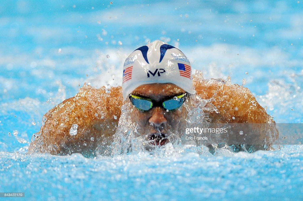 <a gi-track='captionPersonalityLinkClicked' href=/galleries/search?phrase=Michael+Phelps&family=editorial&specificpeople=162698 ng-click='$event.stopPropagation()'>Michael Phelps</a> of the United States competes in a preliminary heat of the Men's 200 Meter Butterfly during Day 3 of the 2016 U.S. Olympic Team Swimming Trials at CenturyLink Center on June 28, 2016 in Omaha, Nebraska.