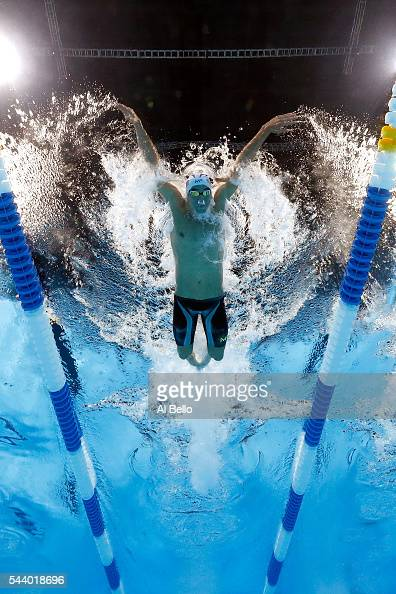 Michael Phelps of the United States competes in a semifinal heat for the Men's 200 Meter Individual Medley during Day Five of the 2016 US Olympic...