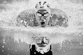 Michael Phelps of the United States competes in the final heat for the Men's 100 Meter Butterfly during Day Seven of the 2016 US Olympic Team...