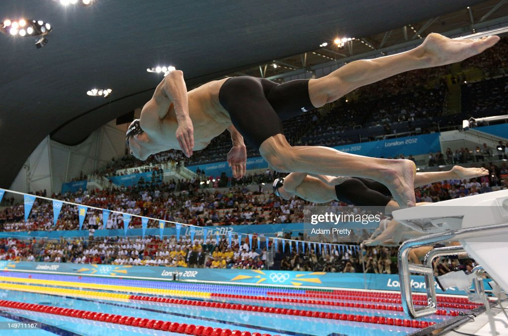 <a gi-track='captionPersonalityLinkClicked' href=/galleries/search?phrase=Michael+Phelps&family=editorial&specificpeople=162698 ng-click='$event.stopPropagation()'>Michael Phelps</a> of the United States competes in the Men's 200m Individual Medley final on Day 6 of the London 2012 Olympic Games at the Aquatics Centre on August 2, 2012 in London, England.