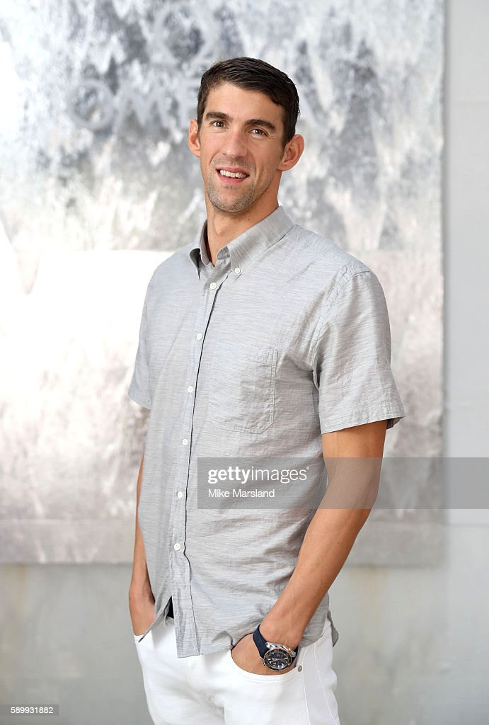 Michael Phelps pictured at Swimming Legends night at OMEGA House Rio 2016 on August 15 2016 in Rio de Janeiro Brazil
