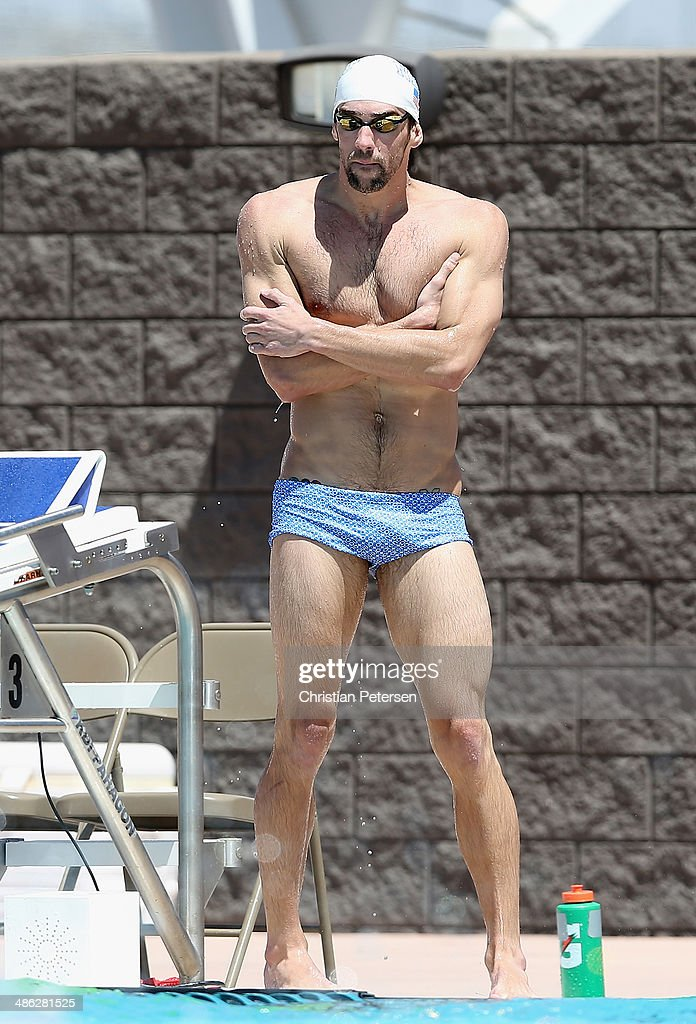 <a gi-track='captionPersonalityLinkClicked' href=/galleries/search?phrase=Michael+Phelps&family=editorial&specificpeople=162698 ng-click='$event.stopPropagation()'>Michael Phelps</a> rests as he practices for the Arena Grand Prix at the Skyline Aquatic Center on April 23, 2014 in Mesa, Arizona.