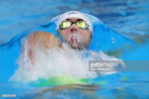 Michael Phelps swims in the Men's 200 meter individual medley heat race during the Longhorn Aquatics Elite Invite on June 5 2016 in Austin Texas