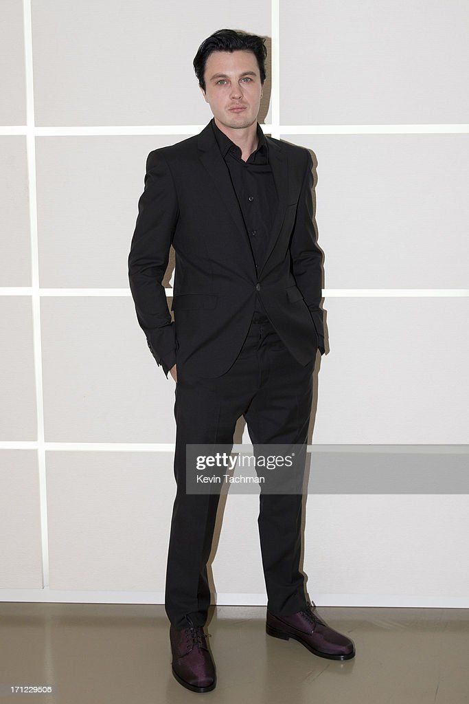 Michael Pitt attends the Calvin Klein Collection show during Milan Menswear Fashion Week Spring Summer 2014 on June 23, 2013 in Milan, Italy.