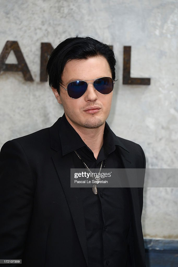 Michael Pitt attends the Chanel show as part of Paris Fashion Week Haute-Couture Fall/Winter 2013-2014 at Grand Palais on July 2, 2013 in Paris, France.
